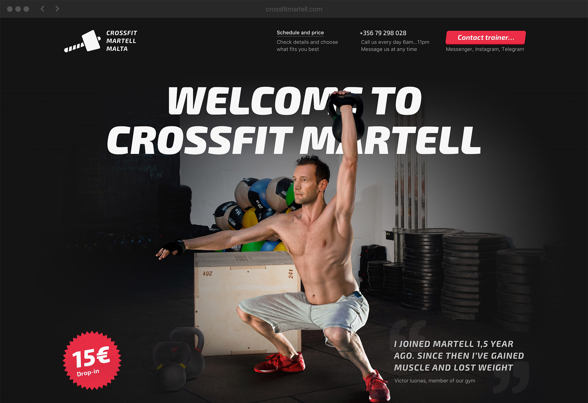 Website Crossfit Martell